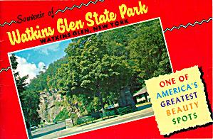 Souvenir Booklet of Watkins Glenn State Park, NY (Image1)