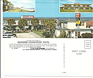 Edgemere Ocean Front Motel Daytona Beach Florida Lp0597
