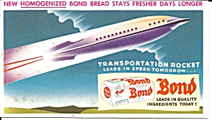Bond Bread Rocketship Blotter Unused Lp0608