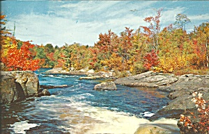 Autumn River Scene Large Postcard Lp0694