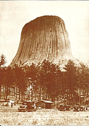Devils Tower National Monument Wy In 1920s Lp0710