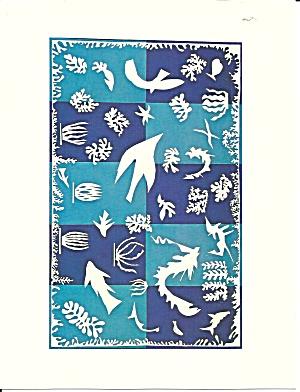 Henri Matisse Gouache on paper Postcard lp0718 (Image1)