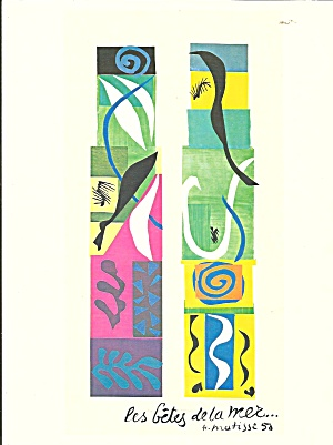 Henri Matisse Gouache on paper Postcard lp0719 (Image1)