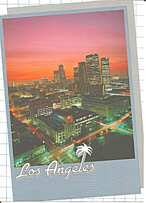 Los Angeles Skyline Postcard Lp0741
