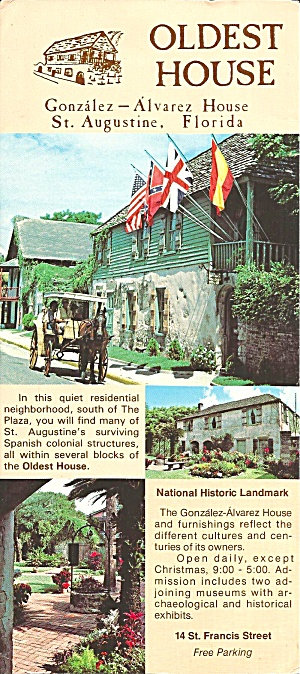 St Augustine FL Oldest House Gonzalez Alvarez House lp0788 (Image1)