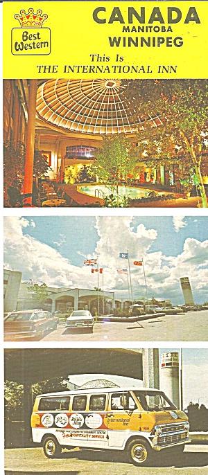 Winnipeg Manitoba Best Western International Inn  lp0793 (Image1)
