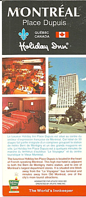 Place Dupuis Quebec Canada Holiday Inn Lp0797