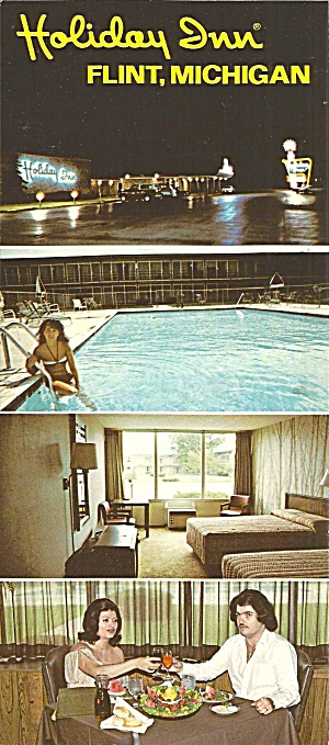 Flint Mi Holiday Inn Postcard Lp0798