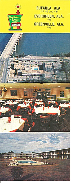 Eufaula Evergreen Greenville Al Holiday Inns Lp0799