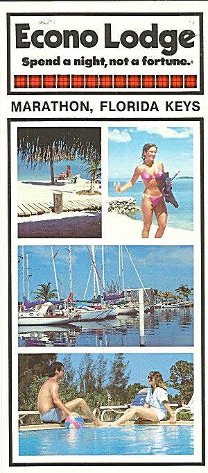 Marathon Florida Keys Econo Lodge Postcard Lp0803