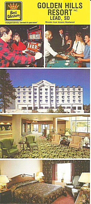 Lead Sd Golden Hills Resort Postcard Lp0806