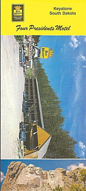 Keystone Sd Four Presidents Motel Postcard Lp0808