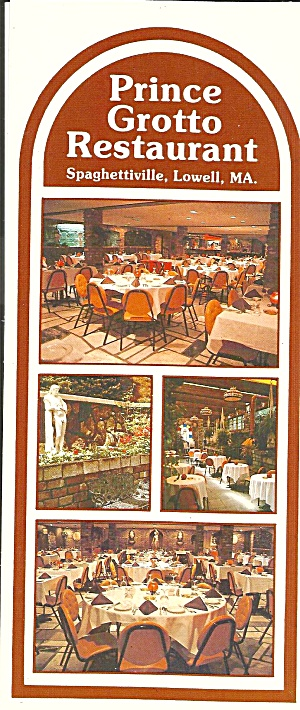 Lowell Ma Prince Grotto Restaurant Postcard Lp0818