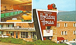 Bradford Pa Holiday House Motel Postcard Lp0820
