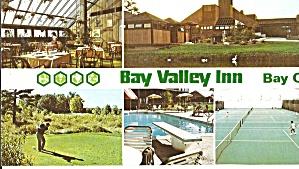 Bay City MI Bay Valley Inn Postcard lp0824 (Image1)