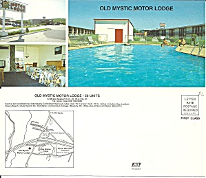 Mystic Seaport Ct Old Mystic Motor Lodge Postcard Lp0856