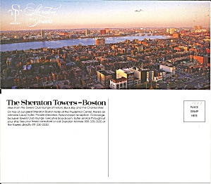 Boston MA Sheraton Towers Postcard lp0830 (Image1)
