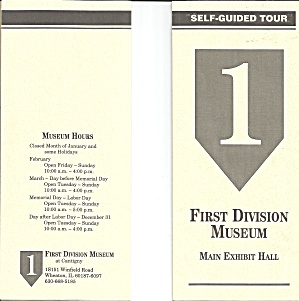 First Division Museum Wheaton IL Tour Brochure lp0831 (Image1)