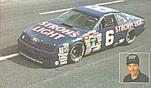 Mark Martin No 6 Stroh S Light Roush Racing Pit Card Lp0838