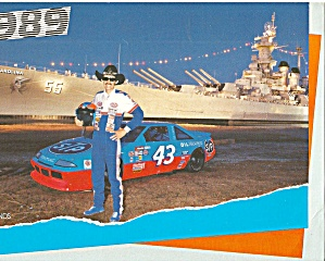 Richard Petty No 43 At Nc Battleship 1989 Pit Card Lp0839