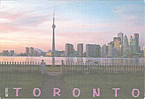 Toronto Ontario From Toronto Islands Postcard Lp0847