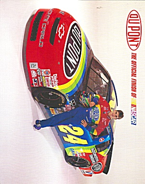 Jeff Gordon No 24 Dupont Race Car Pit Card Lp0850