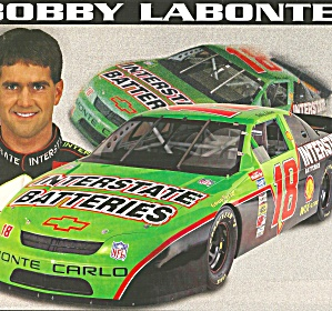 Bobby Labonte No 18 Interstate Batteries Pit Card Lp0851