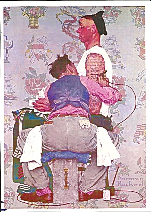 Norman Rockwell The Tattoo Artist From A Painting Lp0852