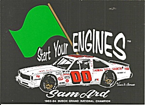 Sam Ard No. 00 Start Your Engines Postcard Lp0856