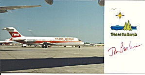 Christmas Card Of A Dc-9 Of Twa Lp0858
