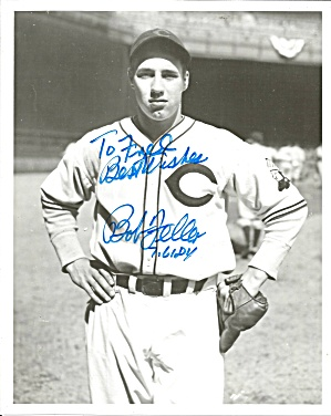 Bob Feller Great Cleveland Indian S Pitcher Autographed Photo Lp0869