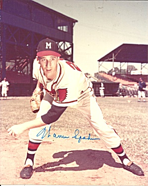 Warren Spahn Braves Great Left Hander Autographed Photo Lp0870