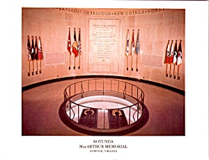 General Douglas Macarthur S Memorial Rotundra Norfolk Va Lp0879