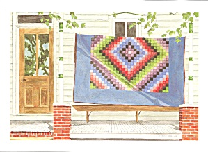 Amish Quilts Postcard From A Painting By Susie Riehl Lp0881