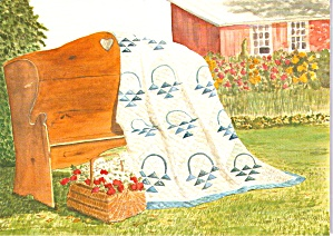 Amish Quilts Postcard From A Painting By Susie Riehl Lp0883