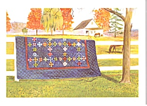 Amish Quilts Postcard From A Painting By Susie Riehl Lp0884