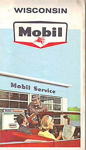 Mobil Oil  Wisconsin Highway Map (Image1)