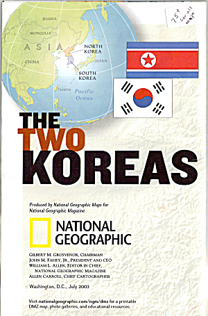 The Two Koreas Nat Geo Map Ma0006