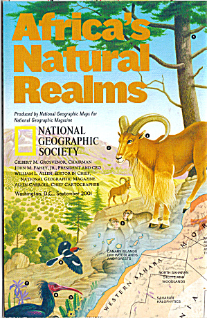 Africa S Natural Realms Nat Geo Map Ma0013
