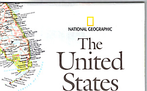 The United States Nat Geo Map Ma0021