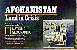 Afghanistan Land In Crisis Nat Geo Map Ma0022
