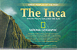 The Inca Machu Picchu Salutes The Sun Nat Geo Map Ma0024