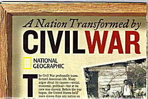 A Nation Transformed By Civil War Nat Geo Map Ma0025