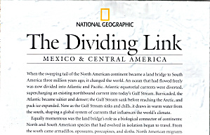The Dividing Link Mexico And Central America Nat Geo Map Ma0028