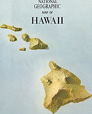 Hawaii And Midway Nat Geo Map Ma0033