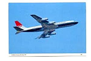 British Airways 707 Airline Postcard mar1351 (Image1)