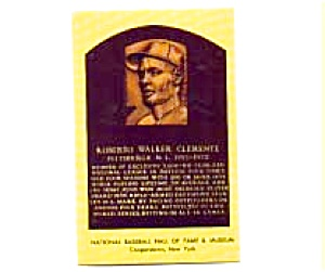 Roberto Clemente Hall Of Fame Postcard Mar1367