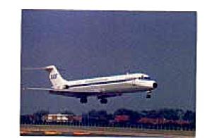 SAS Scandanavian  DC-9 Aircraft Postcard mar1457 (Image1)