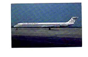 Inex Adria Airways  Super 80 Airline Postcard mar1459 (Image1)