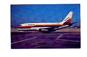 American 737 Air Cal Colors Airline Postcard Mar1463